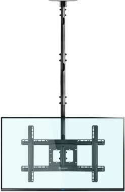 ONKRON Ceiling TV Mount Bracket Height Adjustable for 32 to 70 Inch LED LCD TVs N2L Black