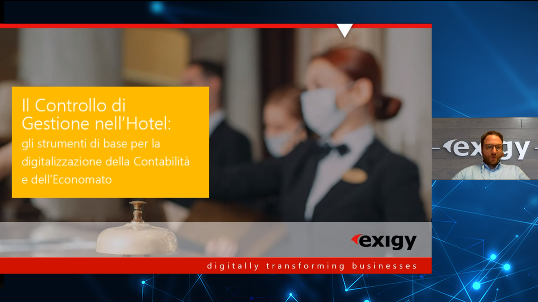 screenshot of hospitality webinar, digital background