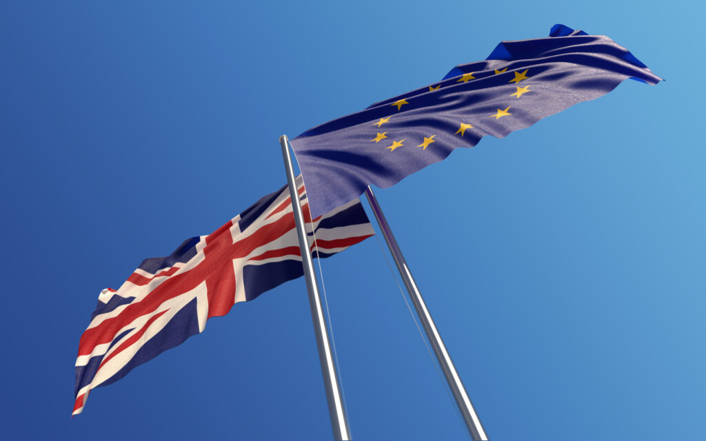 Europen Union and United Kingdom Flags