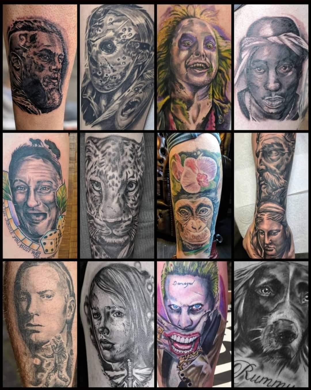 Chris Martin Tattooist. Black Dagger Tattoo Norwich