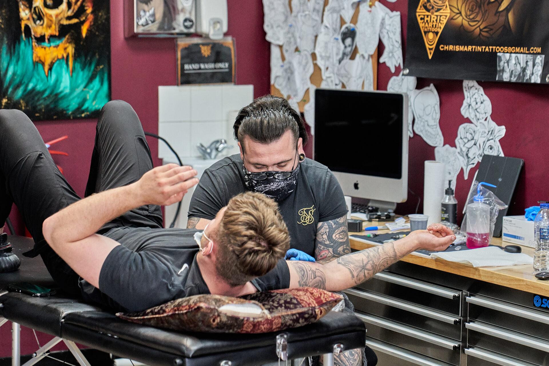 Chris Martin Tattooist at Black Dagger Tattoo Norwich
