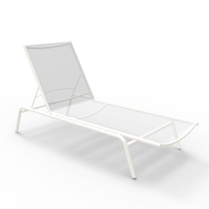 NC Sunlounger White