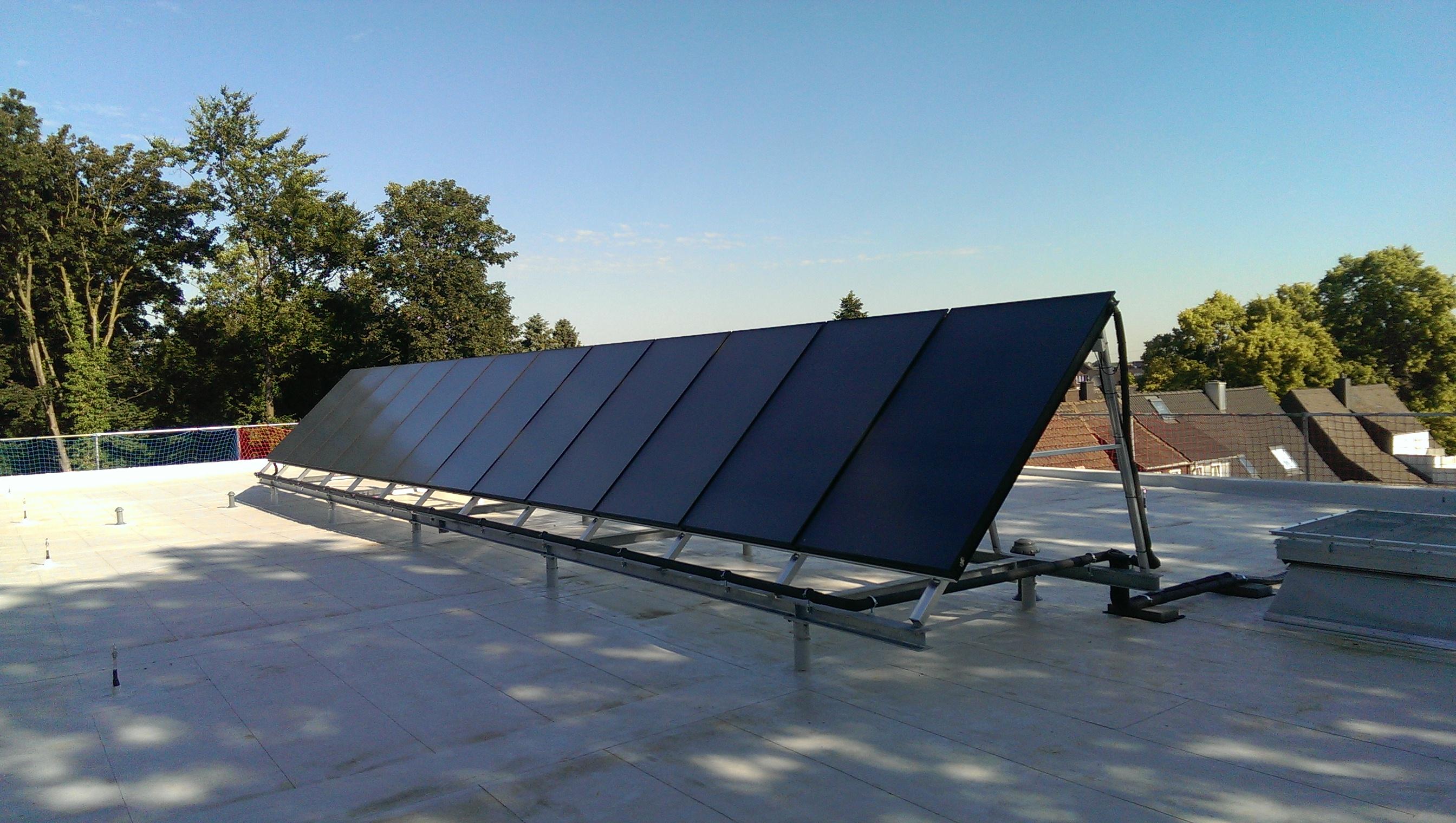 Solarthermieanlage der Firma Vaillant
