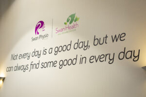 Swan Physio Wall Quote Studio