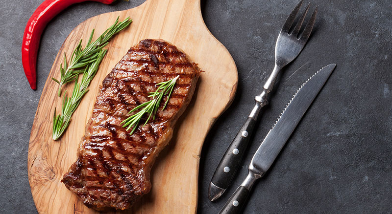Image of cooked and ready to eat harmony beef steak.