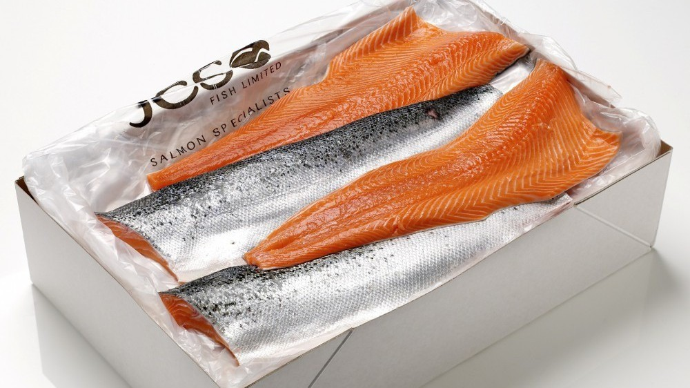 Image of JCS salmon fillets, boxed.