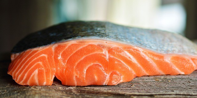 Image of portion of salmon.