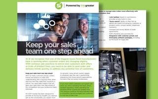 DATASHEET: Sales order processing