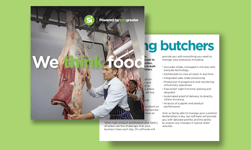 Thumbnail image showing preview of catering butchers brochure.