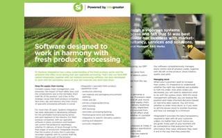 DATASHEET: Software for fresh produce processing