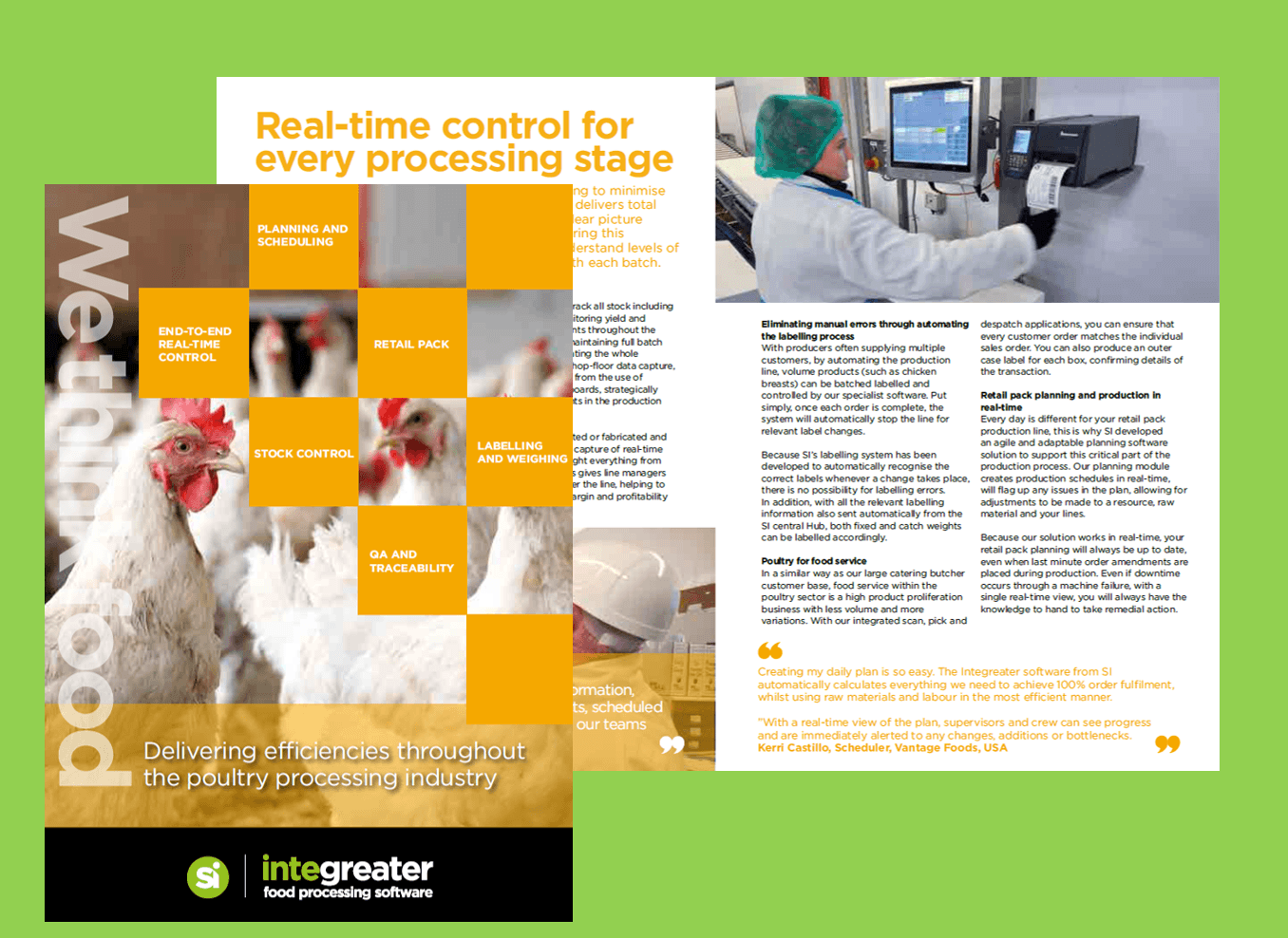 BROCHURE: Poultry Processing Software