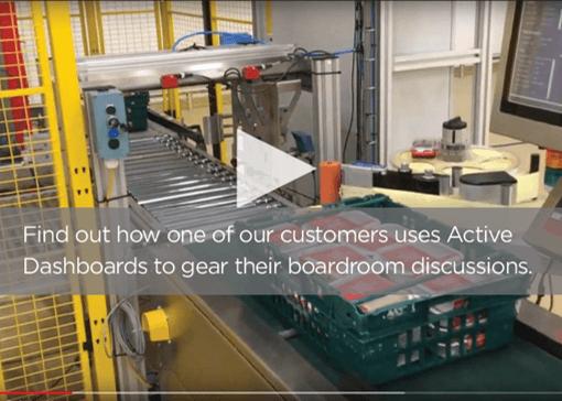 Active dashboard customer feedback video gearing boardroom discussion