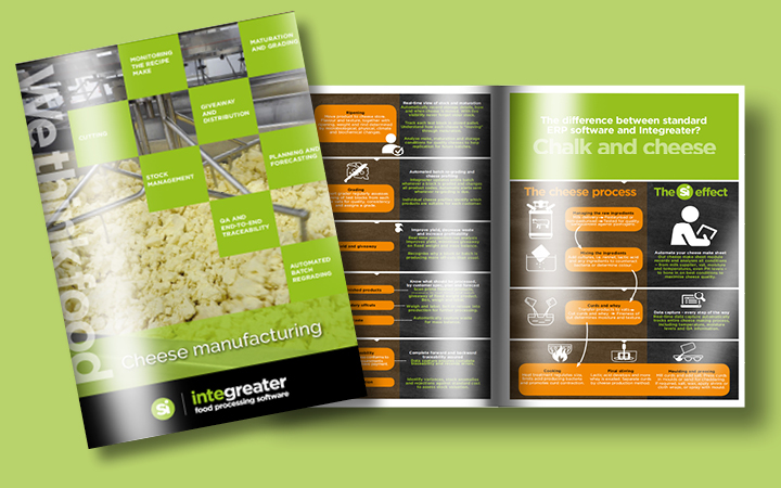 Image of SI's market leading cheese make and processing software brochure