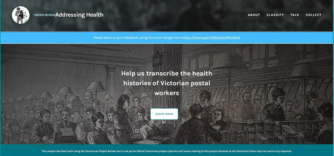 Addressing Health and Zooniverse: crowd-sourcing the pension records