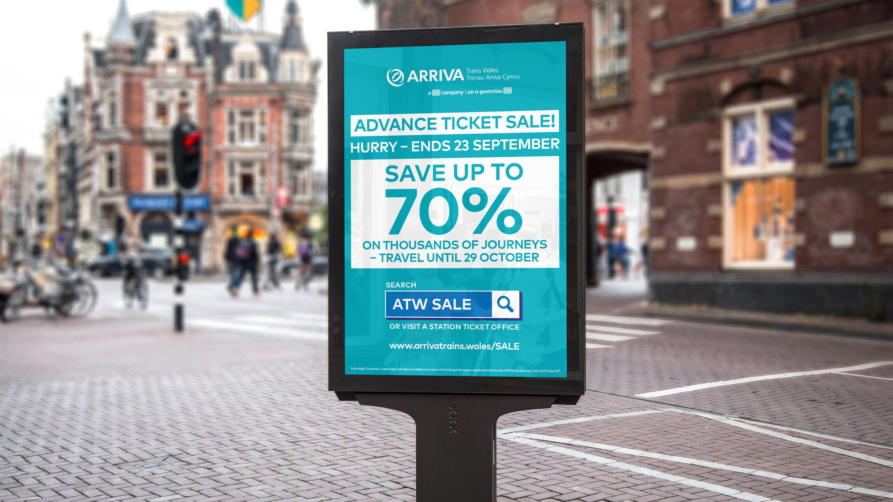Arriva Trains Wales Sale 6 Sheet Poster