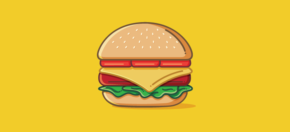 Burger Icon Design