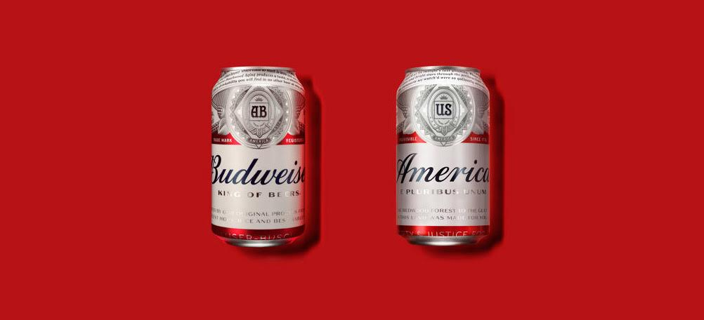 Co-opting brand design Budweiser