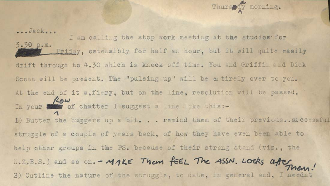 Stolen letter featured in the film Seeing Red