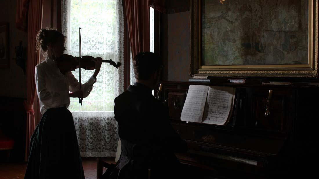 Duet reenactment of Helen Weaver and Edward Elgar in the film Elgar's Enigma