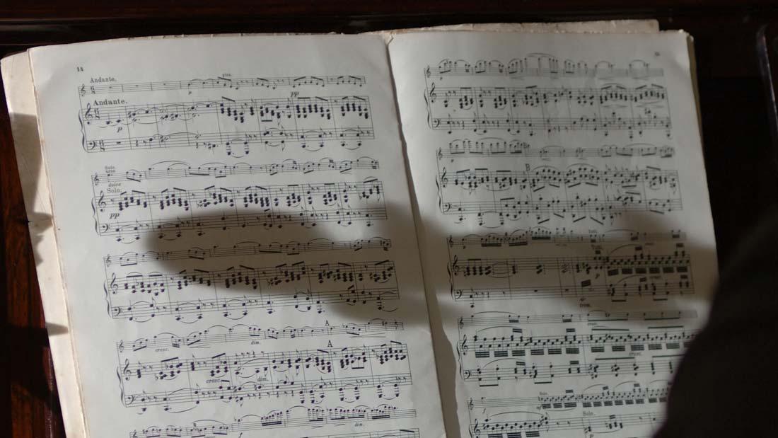 Manuscript from the film Elgar's Enigma