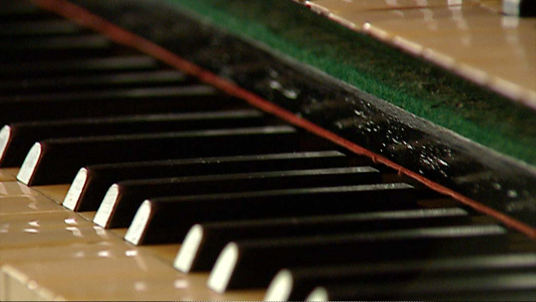 Photo of piano from the film Elgar's Enigma