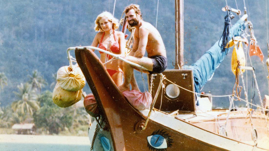 Kerry Hamill & Gail Colley on the Foxy Lady - still from the film Brother Number One