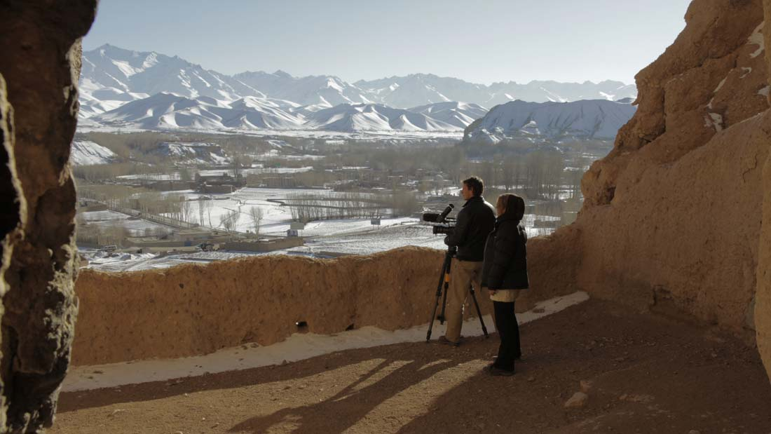 Buddhas of Bamiyan - a still from He Toki Huna: New Zealand in Afghanistan