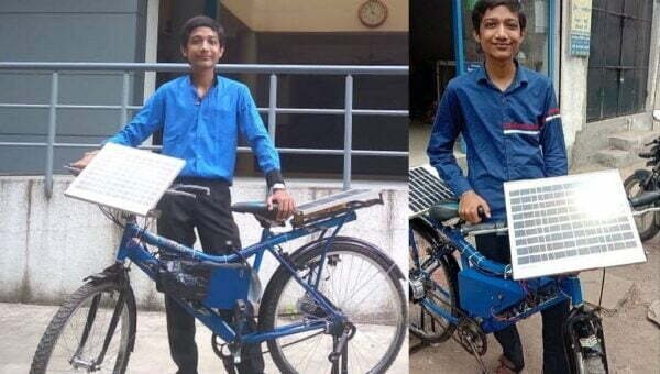 An 18-year-old converts a Rs 300 junk into a solar bicycle that doesn't cost a paisa to run.