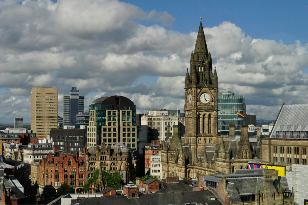 View over Manchester City Centre