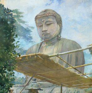 The Great Statue of Amida Buddha - John La Farge