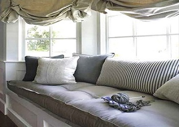 We offer Window Seat Cushions with Foam and Feather Interiors