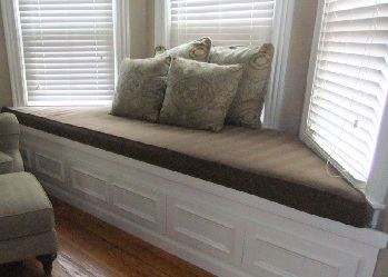 We offer Window Seat Cushions in a Trapezoid Shape
