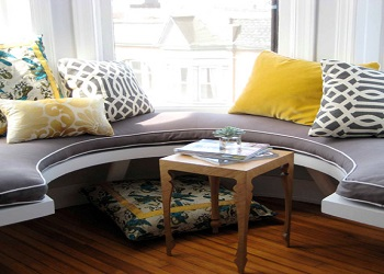 We offer Window Seat Cushions in Custom Shapes