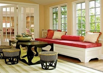 We offer Window Seat Cushions with a variety of Interiors