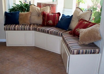 We offer Window Seat Cushions consisting of Multiple Cushions