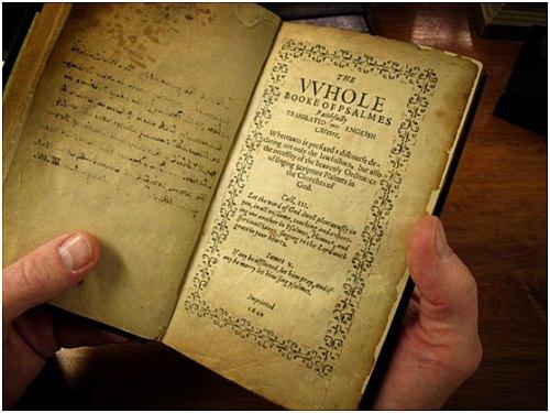 1640 Bay Psalm book