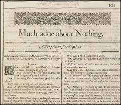 First Folio - Much Ado About Nothing