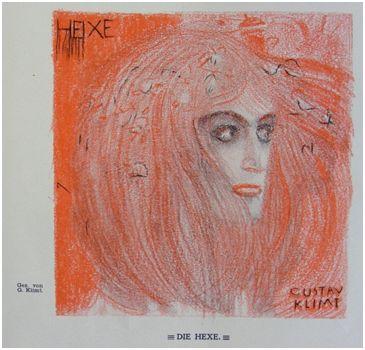 Hexe by Gustav Klimt