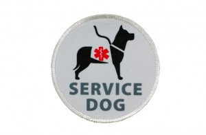 This is an example of a patch that can be downloaded off the internet to be sewn onto a dog backpack or vest ... looks pretty convincing, but it pays to look twice!