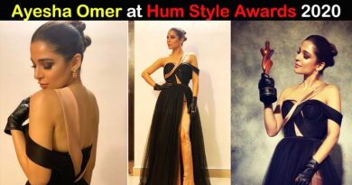 ayesha omer at hum style awards 2020