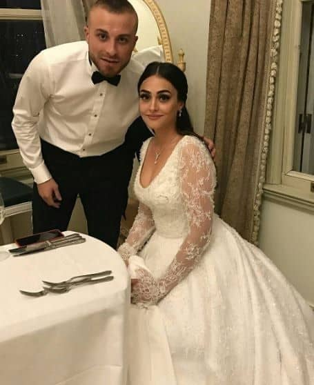esra bilgic wedding photo