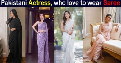 pakistani actress in saree