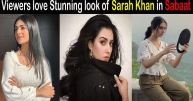 sarah khan in sabaat