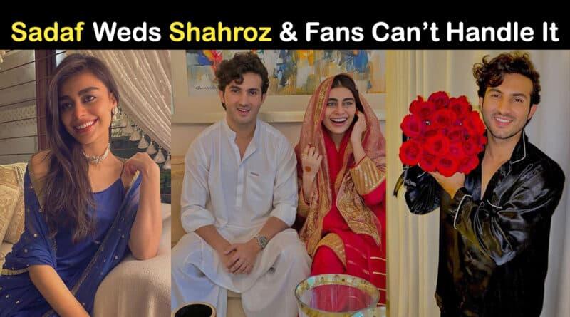 shahroz sabzwari and sadaf kanwal wedding