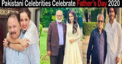 Pakistani celebrities on father's day