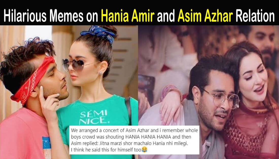 hania amir asim azhar relation mystery solved public handle showbiz hut