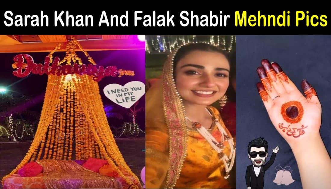 Sarah Khan Mehndi Pics from Simple Mehndi Ceremony