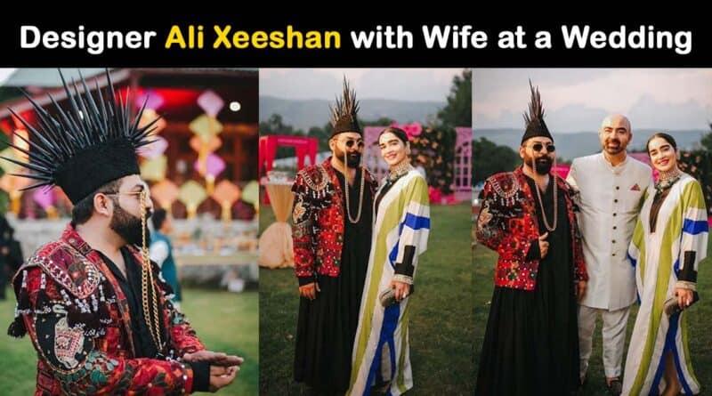 designer ali xeeshan wife pics