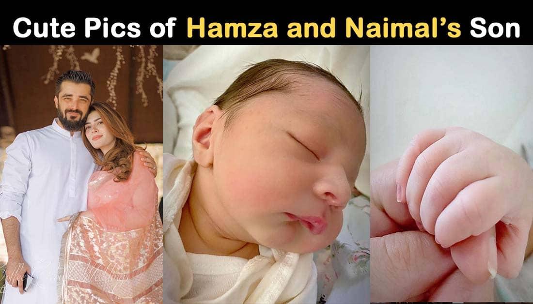 Hamza Ali Abbasi shared Baby Boy Mustafa Abbasi Pics
