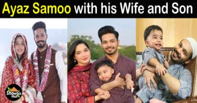 Ayaz Samoo wife and son